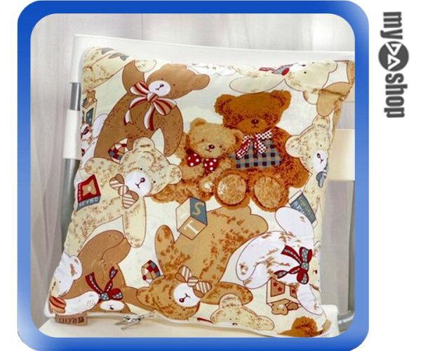 《DA量販店》多功能 兩用式 抱枕 靠墊 靠枕 空調毯 空調被 被子 小熊款(79-6914)