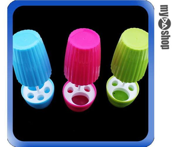 《DA量販店》創意 生活 家居 盆栽 造型 牙刷座 牙刷架 收納架 桃紅色(80-0930)