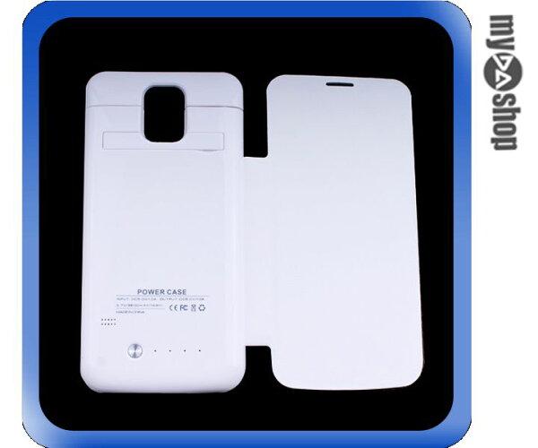 《DA量販店》三星 Samsung Galaxy S5 2800mah 皮套 移動電源 背殼 白(80-0936)