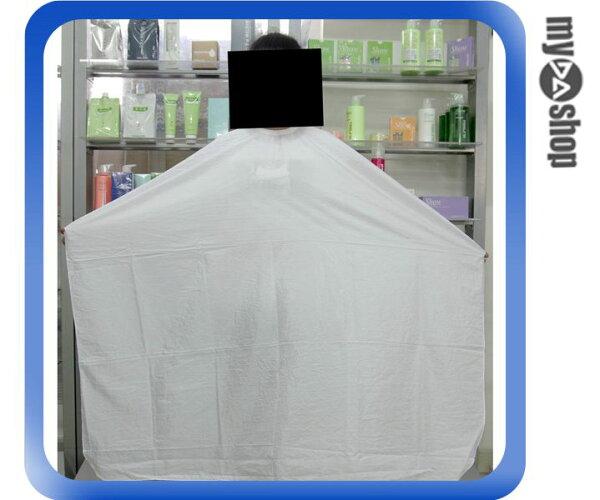 《DA量販店》素面 洗髮 染髮 剪髮 燙髮 理髮 圍巾 圍裙 美容美髮必備 白色(80-1001)