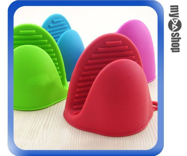 《DA量販店》亮彩 矽膠 微波爐 防滑夾 防燙夾 隔熱夾 熱鍋夾 顏色隨機(80-1034)