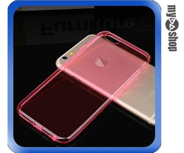 《DA量販店》APPLE 蘋果 iphone6 4.7吋 超薄 TPU 手機殼 具防塵塞 粉紅色(80-1252)