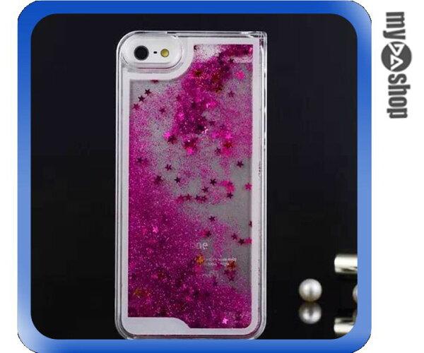 《DA量販店》蘋果 iphone5 5s閃亮 流星 流沙 星砂 手機殼 桃紅色(80-1639)