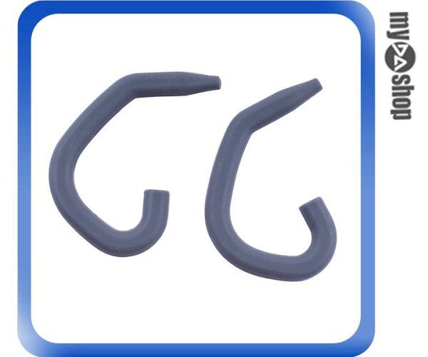 《DA量販店》運動 戶外 矽膠 耳掛式 耳機 掛勾 1組2個 深灰色(80-2008)