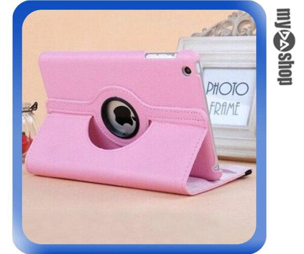 《DA量販店》Apple iPad Air2 可立 360度 旋轉 休眠 皮套 粉紅色(80-2021)