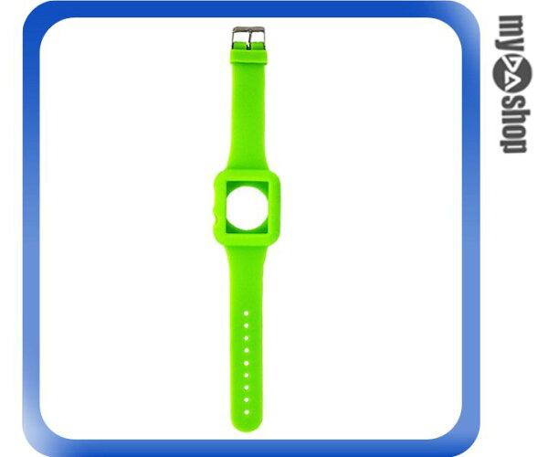 《DA量販店》Apple watch sport 42mm 矽膠套 保護殼 錶帶 綠色(80-2047)
