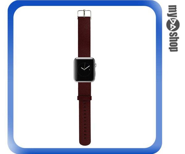 《DA量販店》Apple watch 皮質 錶帶 38mm 棕色 附工具(80-2056)
