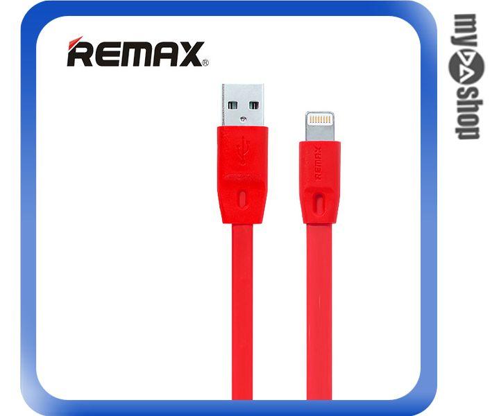 ~DA量販店~REMAX 全速線 IPHONE6 5S 5 充電線 扁線 紅色 1M^(8