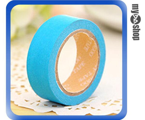 《DA量販店》糖果色 手作 裝飾 DIY 和紙 手撕 可寫 純色 紙膠帶 孔雀藍 藍(V50-0035)