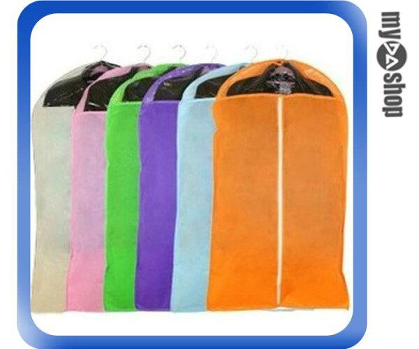 《DA量販店》不織布 西裝 禮服 衣物 防塵罩 防塵袋 收納袋 顏色隨機 中(V50-0101)