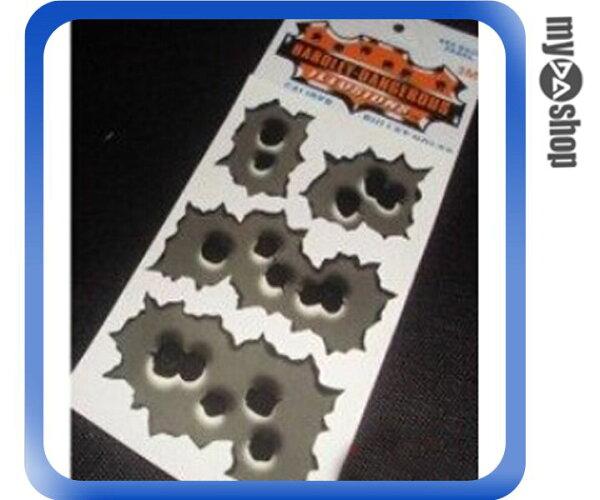 《DA量販店》防真 子彈孔 貼紙 車身 汽車貼紙 連發 兩孔 五孔 兩入一組(V50-0295)