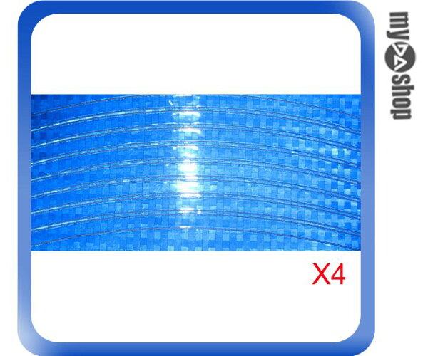 《DA量販店》超炫 自行車 輪圈 反光條 車輪反光貼紙 反光貼 藍色 一組4張(V50-0306)
