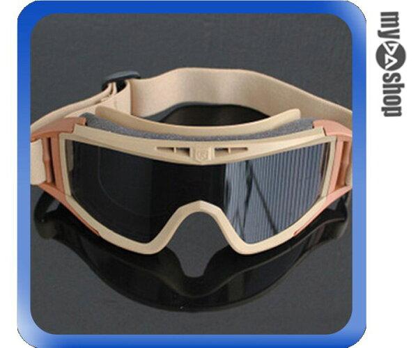 《DA量販店》生存遊戲 滑雪 防風鏡 防沙鏡 越野 護目鏡 眼鏡 風鏡 棕色框(V50-0406)