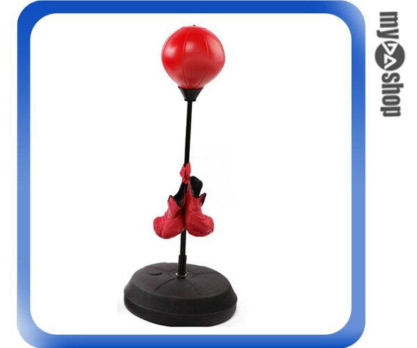 《DA量販店》兒童 運動 120 cm 拳擊座 練習器 打擊 拳擊 拳擊沙包 送手套(V50-0424)