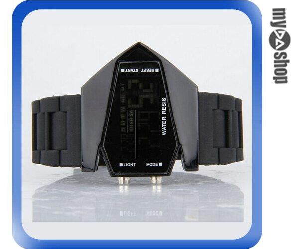 《DA量販店》兒童 LED 飛機 戰鬥機 電子錶 手錶 對錶 黑色(V50-0442)
