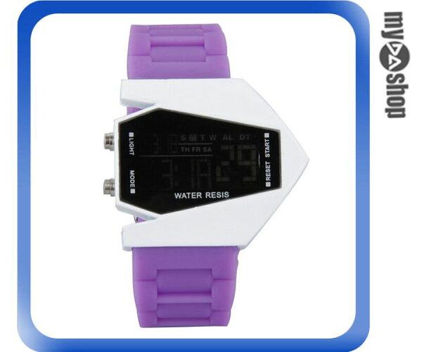 《DA量販店》兒童 LED 飛機 戰鬥機 電子錶 手錶 情侶 紫色(V50-0447)