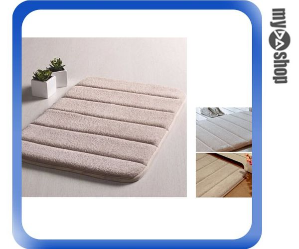 《DA量販店》居家 生活 珊瑚絨 棉質 地墊 止滑墊 防滑墊 腳踏墊 駝色(V50-0903)