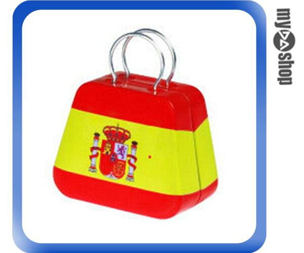 《DA量販店》婚禮小物 西班牙 國旗 喜糖盒 行李箱 手提包 金屬盒(V50-1037)