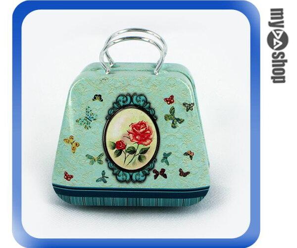 《DA量販店》婚禮小物 喜糖盒 行李箱 手提包 金屬盒 蝴蝶玫瑰(V50-1040)