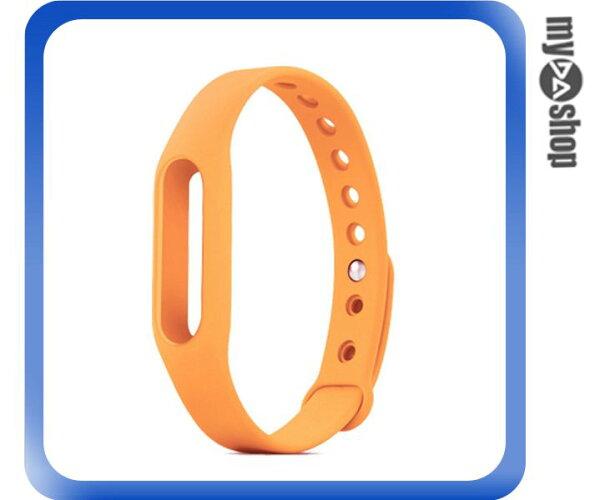 《DA量販店》小米手環 替換帶 腕帶 智慧 手環 不含主體 橘色(V50-1099)