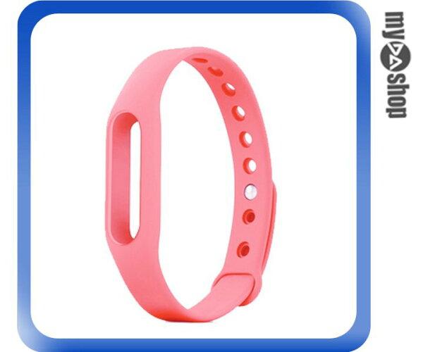《DA量販店》小米手環 替換帶 腕帶 智慧 手環 不含主體 粉紅色(V50-1100)