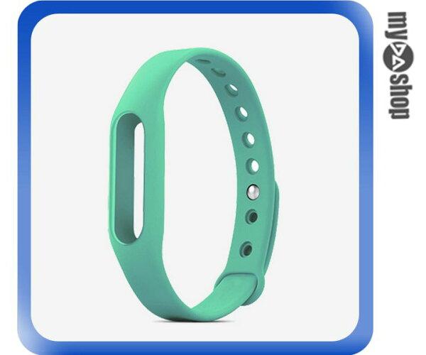 《DA量販店》小米手環 替換帶 腕帶 智慧 手環 不含主體 綠色(V50-1102)