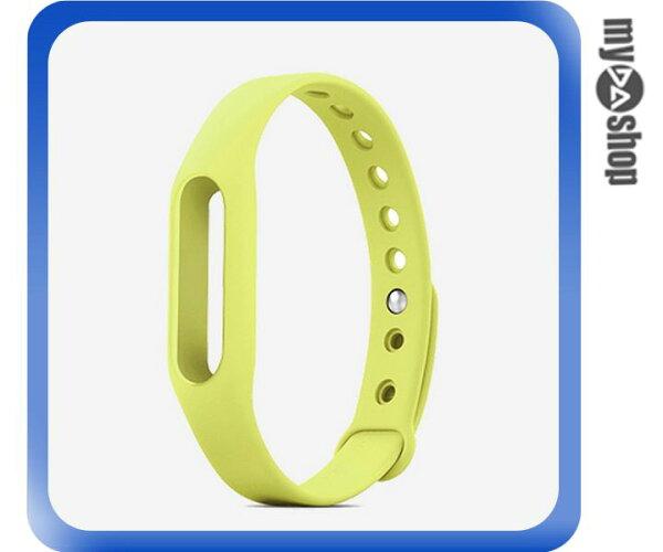《DA量販店》小米手環 替換帶 腕帶 智慧 手環 不含主體 淺綠(V50-1103)