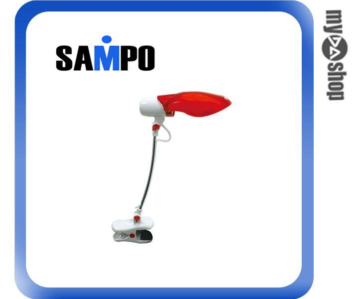《DA量販店》聲寶SAMPO 節能 14W LH-U906VL 夾燈 檯燈 紅(W89-0048)