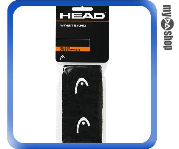 《DA量販店》HEAD 網球 2.5吋 運動 護腕 黑色 2個(W92-0054)