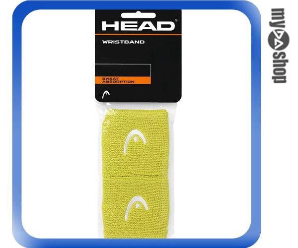 《DA量販店》HEAD 網球 2.5吋 運動 護腕 綠色 2個(W92-0056)
