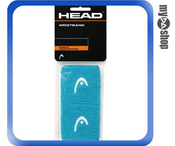 《DA量販店》HEAD 網球 2.5吋 運動 護腕 淺藍色 2個(W92-0059)