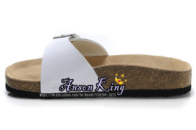 [Anson King]Outlet正品代購 birkenstock Madrid系列 男女款 懶人涼拖鞋 白色 1