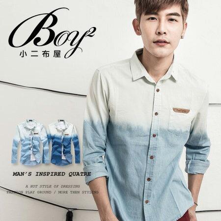 ☆BOY-2☆【NC3409】韓版漸層牛仔襯衫 0