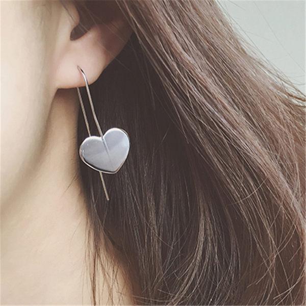 PS Mall 簡約風格 U型 OL風金屬合金心形耳環 幾何愛心耳鉤耳飾品~G2154~