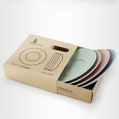 環保多功能餐具 盤子 水果盤 小圓盤 (四入組) 15*2【WS0504】 BOBI  09/22 0