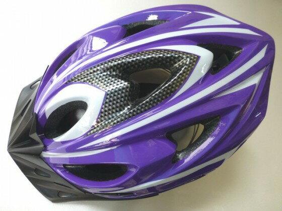 鉅盛 自行車安全帽 可調式 (紫色)《意生自行車》