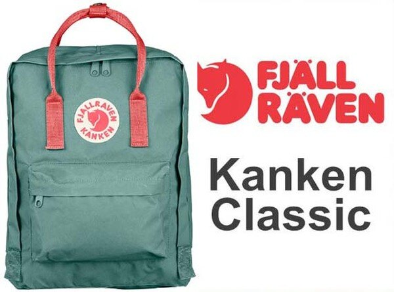 瑞典 FJALLRAVEN KANKEN    Classic 664-319 霜綠/桃粉紅  小狐狸包