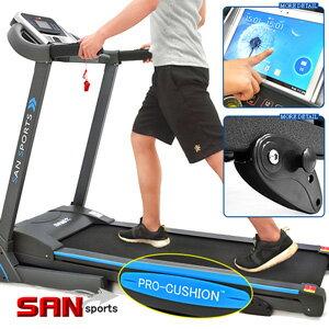 【SAN SPORTS 山司伯特】阿努比斯3HP電動跑步機(13組避震墊+3段坡度)電跑美腿機.走步機散步機.運動健身器材.推薦哪裡買C128-9420