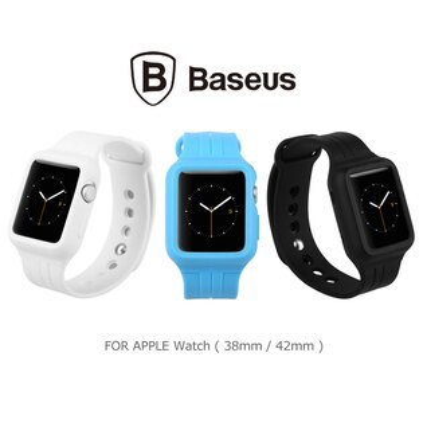 強尼拍賣~ BASEUS 倍思 Apple Watch (38mm / 42mm) 時尚運動錶帶(藍)