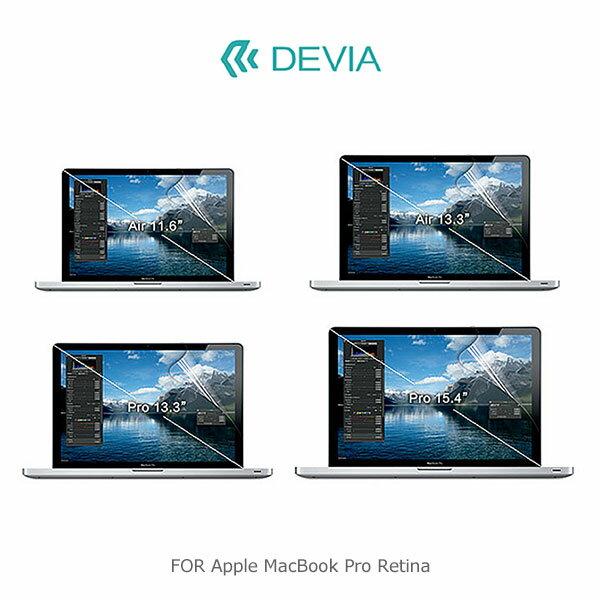 強尼拍賣~ DEVIA Apple MacBook Pro Retina 13 / 15 吋 螢幕保護貼 靜電吸附