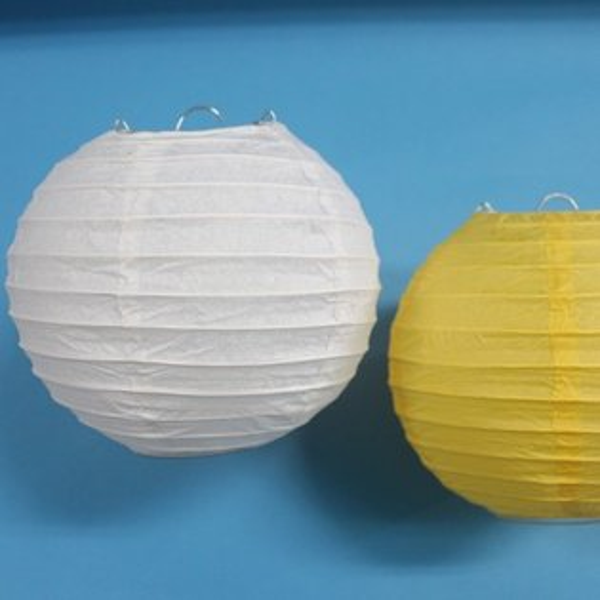 6吋燈籠 空白燈籠 彩繪燈籠 直徑15cm紙燈籠 圓形燈籠 DIY燈籠/一個入{定35}