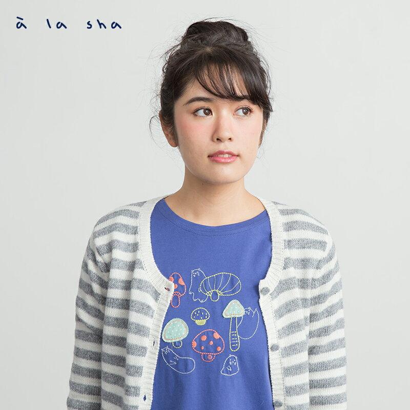 a la sha Qummi 磨菇貼布繡長袖T恤 1