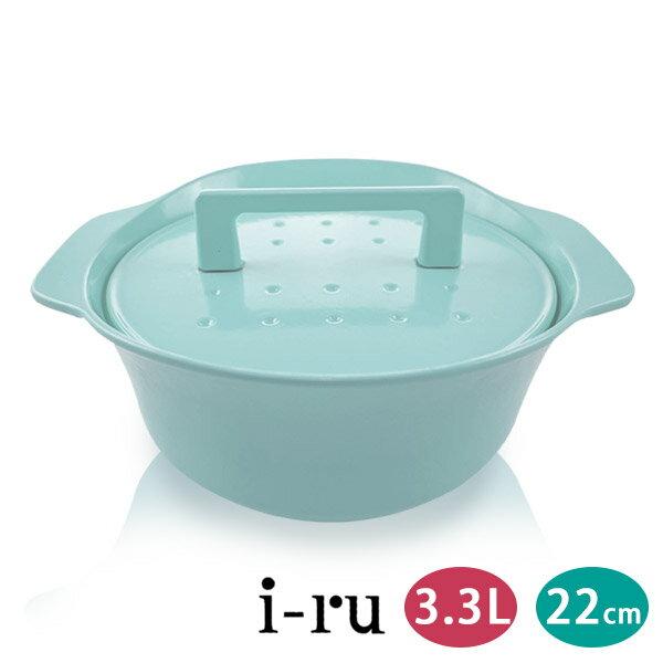 日本南部鐵器 i-ru 琺瑯鑄鐵鍋22cm(3.3L) 六色 / 贈Lustar菜瓜布 4