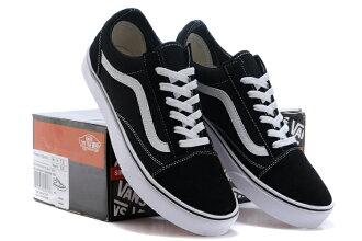 Vans Old Skool 經典黑白條低幫 滑板鞋運動鞋 休閒男生女生鞋子(黑白情侶款)