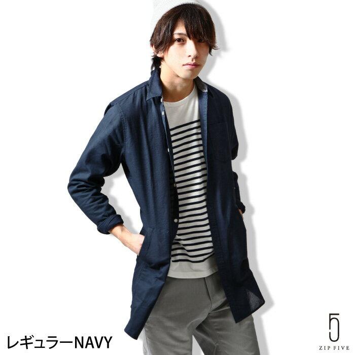 襯衫 長版 標準領/立領 平織 Panama織 ZIP FIVE 日本男裝 超商取貨 zip-tw【15409】