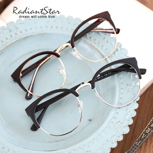 韓國復古半框貓眼可配鏡平光鏡/眼鏡【G322】☆璀璨之星