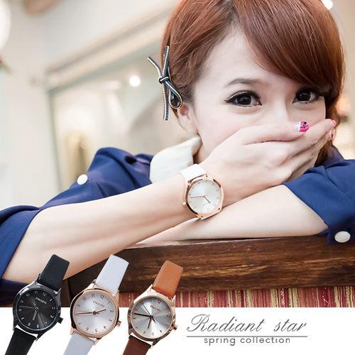 正韓 STACCATO品牌手錶 玫瑰金邊超美簡約真皮錶【WSA88】☆璀璨之星預購
