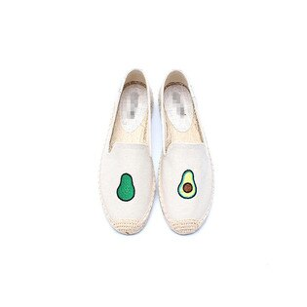 【Soludos】美國經典草編鞋-塗鴉系列草編鞋-酪梨