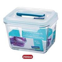 野餐盒不可缺單品Glass Lock強化玻璃保鮮盒長方型附提把2500ml野餐盒RP602便當盒-大廚師百貨