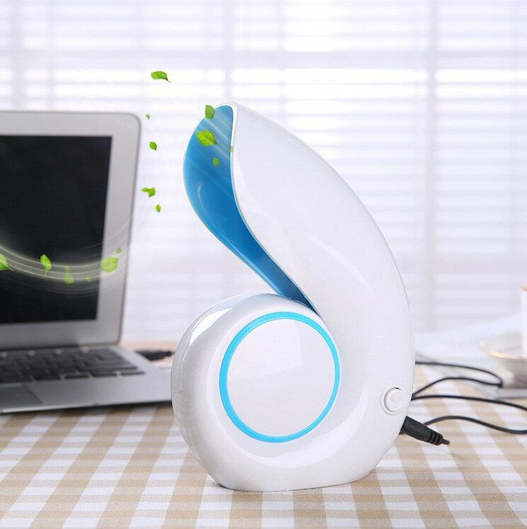日式 USB漩渦海螺風扇 迷你小電扇 出貨^#NH010016